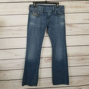 Diesel Bootcut Jeans w 2 Button Closure Midrise